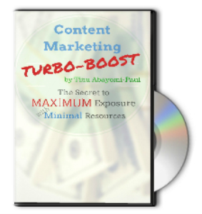 Content Marketing Turbo Boost | Other Files | Presentations