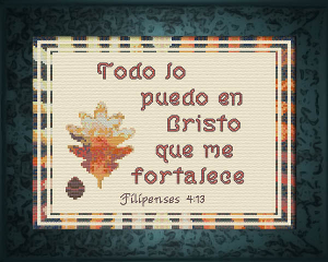 Fortalece 8 x 10 - Chart | Crafting | Cross-Stitch | Religious