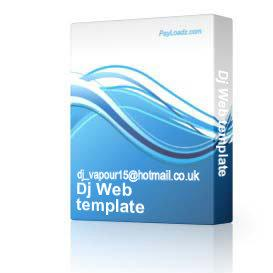 dj web template