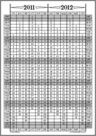 Jul11-Jun12: July-June Calendar, Fiscal Year, & Academic Year Calendar | Other Files | Documents and Forms