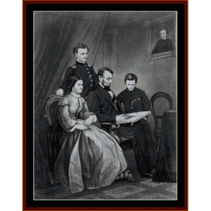 Abraham Lincoln and Family - American History cross stitch pattern by Cross Stitch Collectibles | Crafting | Cross-Stitch | Wall Hangings