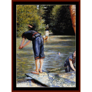 Bathers - Caillebotte cross stitch pattern by Cross Stitch Collectibles | Crafting | Cross-Stitch | Wall Hangings