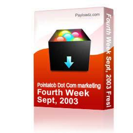 Fourth Week Sept, 2003 Freshlists 750,000 | Audio Books | Business and Money