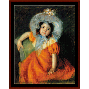 child in orange dress - cassatt cross stitch pattern by cross stitch collectibles