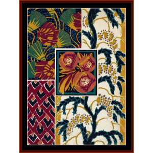 Floral Collage I  - Floral cross stitch pattern by Cross Stitch Collectibles | Crafting | Cross-Stitch | Wall Hangings