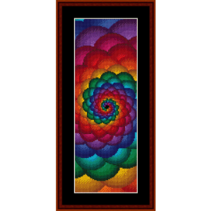 fractal 53 bookmark cross stitch pattern by cross stitch collectibles