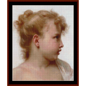 De Petite Fillet - Bouguereau cross stitch pattern by Cross Stitch Collectibles | Crafting | Cross-Stitch | Wall Hangings