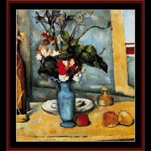 Die Blaue Vase - Cezanne cross stitch pattern by Cross Stitch Collectibles | Crafting | Cross-Stitch | Wall Hangings