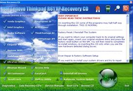 IBM Lenovo Thinkpad R61 XP drivers restore disk recovery cd driver download iso | Software ...