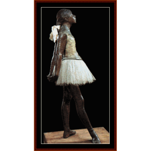 14-year old dancer - degas cross stitch pattern by cross stitch collectibles