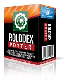 rolodex poster - increase your page rank - with resale rights