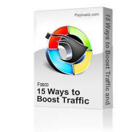 15 Ways to Boost Traffic and website sales Video E-Book | Audio Books | Internet