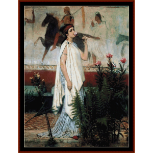 A Greek Woman - Alma Tadema cross stitch pattern by Cross Stitch Collectibles | Crafting | Cross-Stitch | Wall Hangings