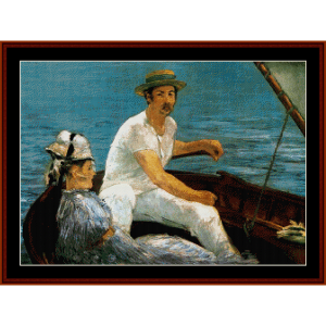 Boating Party - Manet cross stitch pattern by Cross Stitch Collectibles | Crafting | Cross-Stitch | Wall Hangings