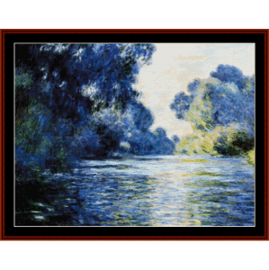 Seine at Giverny - Monet cross stitch pattern by Cross Stitch Collectibles | Crafting | Cross-Stitch | Wall Hangings