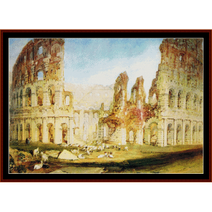 Colosseum Rome - Turner cross stitch pattern by Cross Stitch Collectibles | Crafting | Cross-Stitch | Wall Hangings