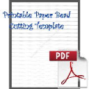 Paper Bead Cutting Template: Makes 1/2 x 00 x 8-1/2 Strips for Cone Beads | Crafting | Paper Crafting | Other