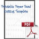 Paper Bead Cutting Template: Makes 1/2 x 00 x 11 strips for Cone Shaped beads. | Crafting | Paper Crafting | Other
