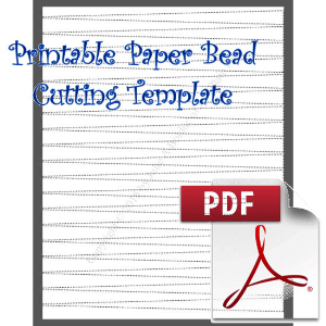 Paper Bead Cutting Template: Makes 1/2 x 1/16 x 8½ Strips | Crafting | Paper Crafting | Other