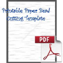 Paper Bead Cutting Template: Makes 1/2 x 1/8 x 8½ Strips for Bicone Beads | Crafting | Paper Crafting | Other