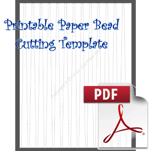 Paper Bead Cutting Template: Makes 1/2 x 1/8 x 11 Strips for bicone beads | Crafting | Paper Crafting | Other
