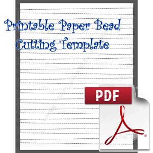 Paper Bead Cutting Template: Makes 1/2 x 1/4 x 8½ Strips for Barrel Beads | Crafting | Paper Crafting | Other