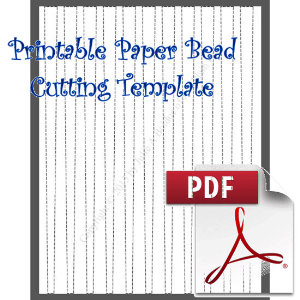 Paper Bead Cutting Template: Makes 1/2 x 1/4 x 11 Strips for Barrel Beads | Crafting | Paper Crafting | Other