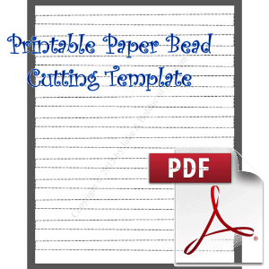 Paper Bead Cutting Template: Makes 1/2 x 3/8 x 8½ Strips for Barrel Beads | Crafting | Paper Crafting | Other