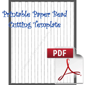 Paper Bead Cutting Template: Makes 1/2 x 3/8 x 11 Strips for Barrel Beads | Crafting | Paper Crafting | Other
