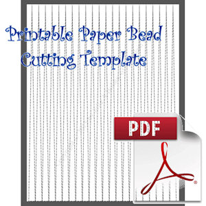 Paper Bead Printable Cutting Template: Makes 3/8 x 00 x 11 long Strips for Bicone Paper Beads | Crafting | Paper Crafting | Other