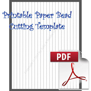 Paper Bead Printable Cutting Template: Makes 3/8 x 3/8 x 11 Strips for Tube Beads | Crafting | Paper Crafting | Other