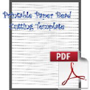 Paper Bead Printable Cutting Template: Makes strips 3/8 x 00 x 8-1/2 for cone shaped paper beads. | Crafting | Paper Crafting | Other