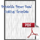 Paper Bead Printable Cutting Template: Makes 3/8 x 00 x 11 Strips for Making Cone shaped Paper Beads. | Crafting | Paper Crafting | Other