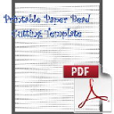 Paper Bead Printable Cutting Template: Makes Strips 3/8 x 1/16 x 11 long for Bicone Paper Beads. | Crafting | Paper Crafting | Other