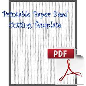 Paper Bead Printable Cutting Template: Makes 3/8 x 1/16 x 11 Strips for Making Bicone Paper Beads. | Crafting | Paper Crafting | Other