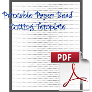 paper Bead Printable Cutting Template: Makes 3/8 x 1/8 x 8-1/2 Strips for Making Barrel Shaped Paper Beads | Crafting | Paper Crafting | Other