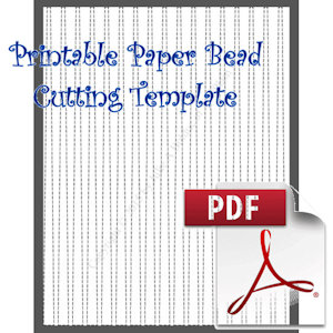 Paper Bead Printable Cutting Template: Makes 3/8 x 1/8 x 11 Strips for Maing Barrel Shaped Paper Beads | Crafting | Paper Crafting | Other