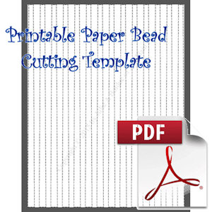 Paper Bead Printable Cutting Template: Makes 3/8 wide strips for making 3/8 long barrel beads. | Crafting | Paper Crafting | Other