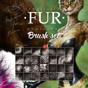 fur brushset 2015 for photoshop