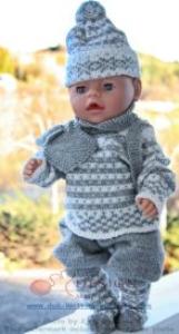 DollKnittingPatterns 0014D TRULS og TRINE - Pullover, Hose, Socken, Mütze, Schal, Rucksack und Handschuhe-(Deutsch) | Crafting | Knitting | Baby and Child