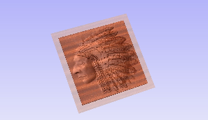 chief 3d stl model for cnc router using aspire or art cam
