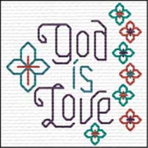 QS God is Love | Crafting | Cross-Stitch | Religious