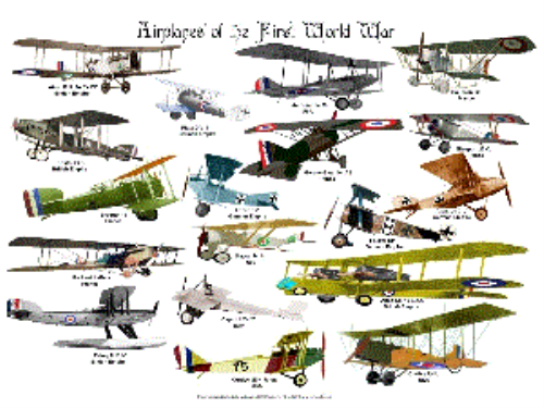 First Additional product image for - Airplanes of the First World War Poster