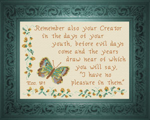 Remember Your Creator | Crafting | Cross-Stitch | Other