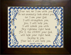 I Will Strengthen You | Crafting | Cross-Stitch | Other