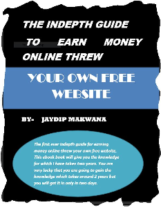 the indepth guide to earn money online threw your own free website