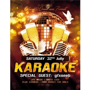 karaoke flyers seebgfx psd