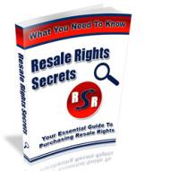 Resale Rights Secrets With Master Resale | eBooks | Business and Money