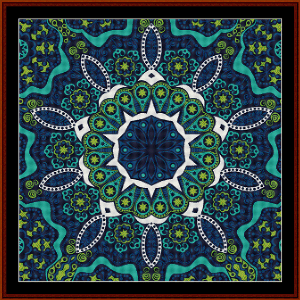 Fractal 501 cross stitch pattern by Cross Stitch Collectibles | Crafting | Cross-Stitch | Wall Hangings