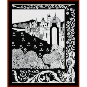 Queen Guinevere - Beardsley cross stitch pattern by Cross Stitch Collectibles | Crafting | Cross-Stitch | Wall Hangings